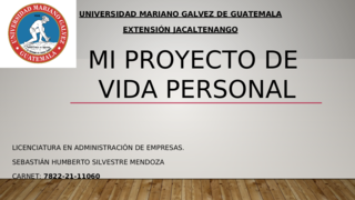 MI PROYECTO DE VIDA PERSONAL