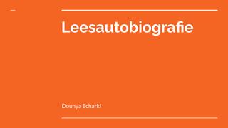 Leesautobiografie pp