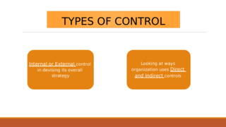 TYPES OF CONTROL