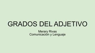 Adjetivo - Merary Rivas