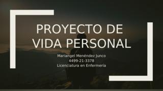 Proyecto de Vida Personal