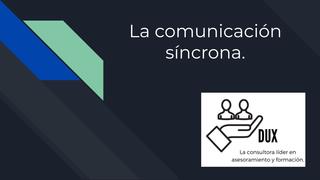 Comunicación síncrona