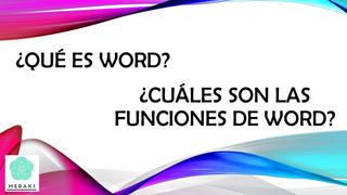WORD Y SUS FUNCIONES
