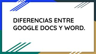 Google Docs Vs Word.