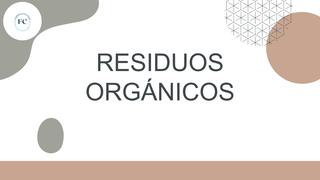 Presentación residuos orgánico