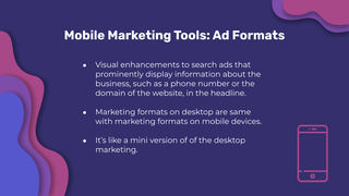 Mobile Marketing Tool
