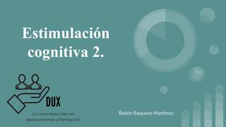 Estimulación cognitiva 2.