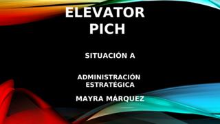 ELEVATOR PICH SITUACIÓN A
