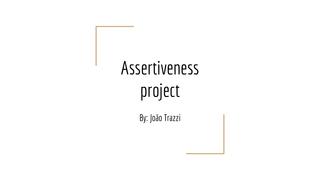 Assertiveness project