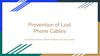 Prevention of Lost Phone Cable