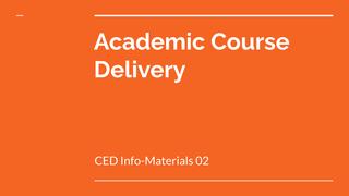 CED Info-Materials 02: Academi