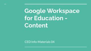 CED Info-Materials 04: Google