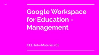CED Info-Materials 05: Google