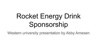 energy drink presentation