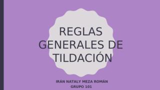 REGLAS DE LA TILDACIÓN