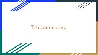 3-2 Telecommuting Assignment