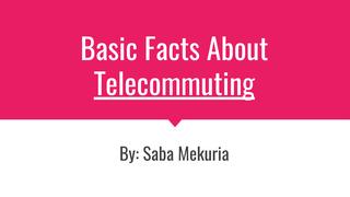 Telecommuting Speech